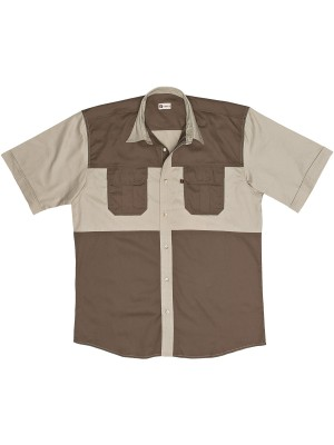 "SALTY MENS ""Cornal""  Two Tone Bush Shirt"