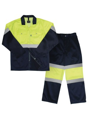 TWO TONE HI-VIS REFLECTIVE CONTI SUIT
