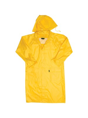 POLYESTER PVC CALF LENGTH RAIN COAT