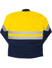 TWO TONE VENTED REFLECTIVE WORK SHIRT