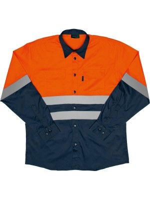 TWO TONE REFLECTIVE WORK SHIRT
