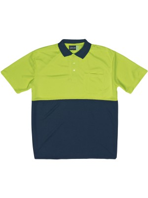 TWO TONE HI-VIS POLO