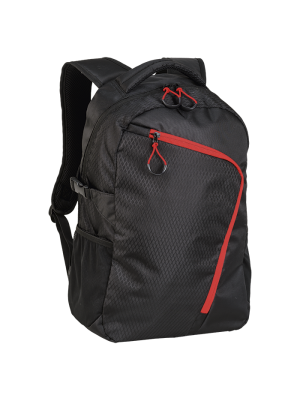 Backpack With Curved Contrast Zip