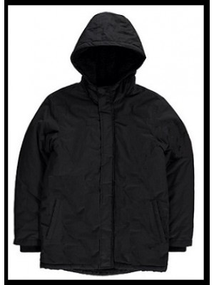 Black Winter jackets with hood