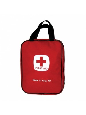 FIRST AID HOME & AWAY KIT WITH BAG RED
