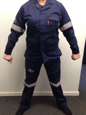 Sasol Spec 2 piece Conti Suit Overall D59 100% Cotton Zero Flame/Acid Retardant