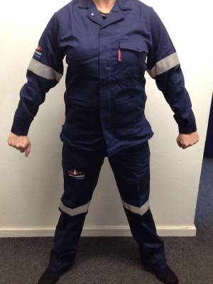 Sasol spec Overall Conti Suit zero flame acid repellent
