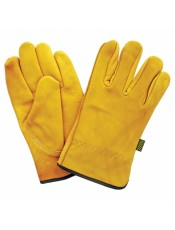 Leather Cowhide Gloves Yellow 30111 wwd